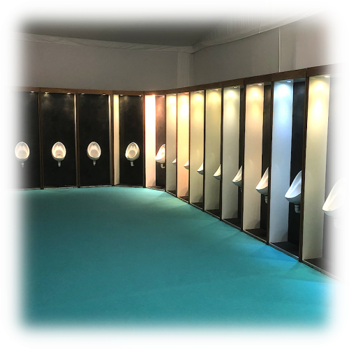 Hullabaloos Luxury Urinals for event hire