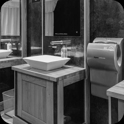 Hullabaloos modern toilets for weddings hire
