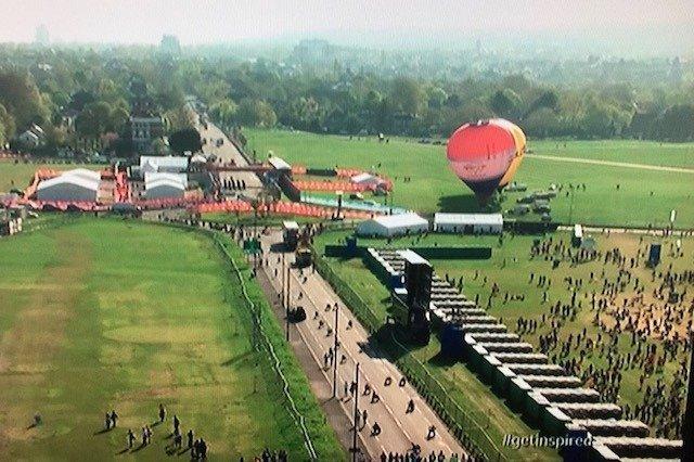 London Marathon PTL Drone view