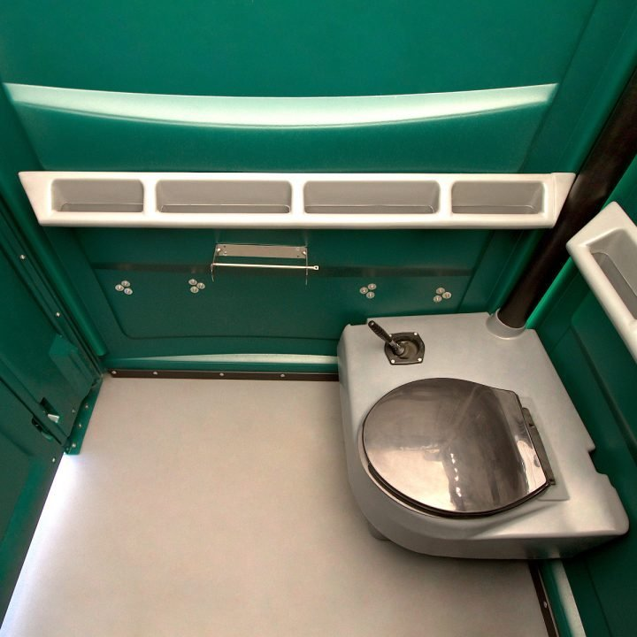 Inside Disabled Toilet for hire to events and construction sites