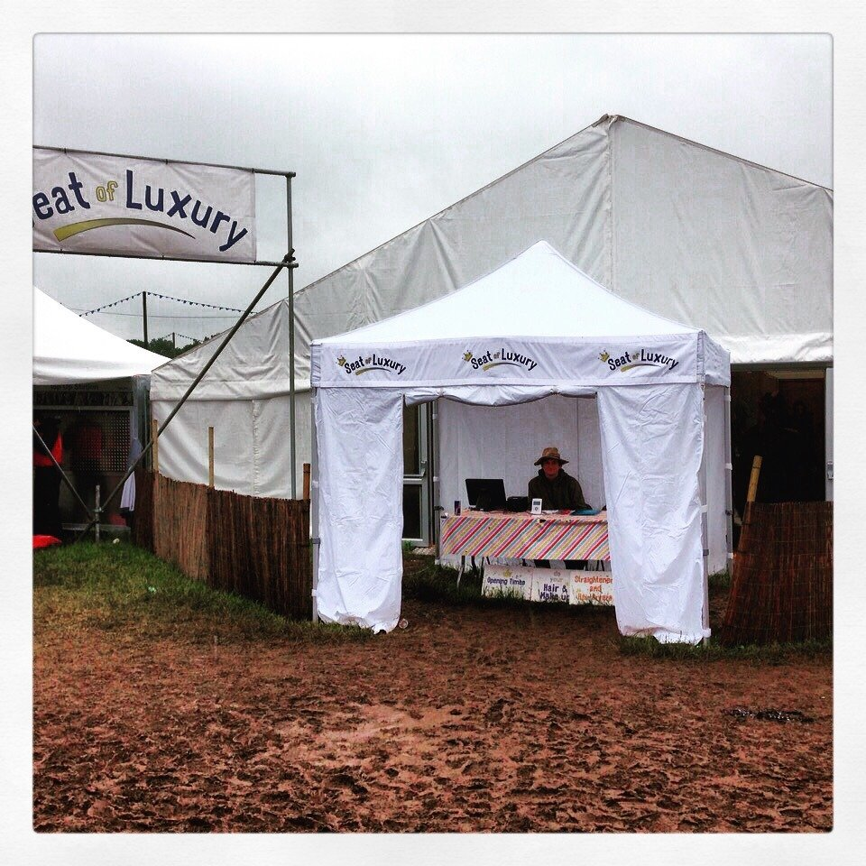 Luxury toilets available for events