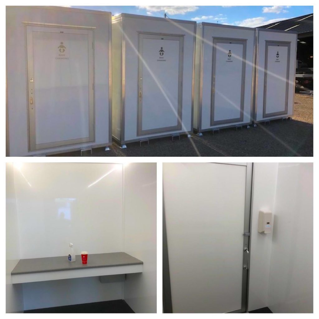 Shiny new baby changing units portable toilets limited