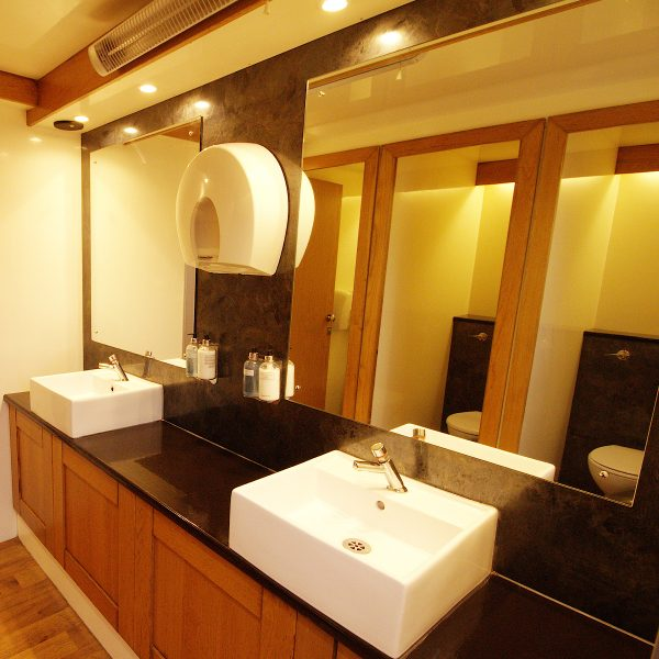 Vanity inside luxury 3+1 Trailer Mounted Toilet Trailer for hire
