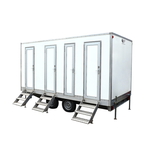 6 Bay Trailer Mounted Toilet Concerts Sanitation Equipment Rental Delivery