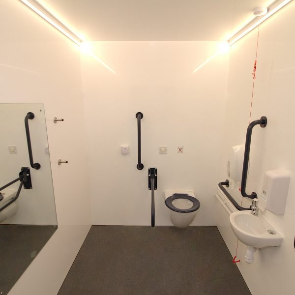 Inside events Disabled Vacuum Unit Toilet