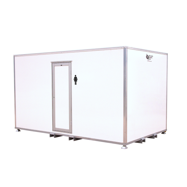 Female 5 Bay VacPOD Vacuum Container Toilet for hire to Festivals and Concerts