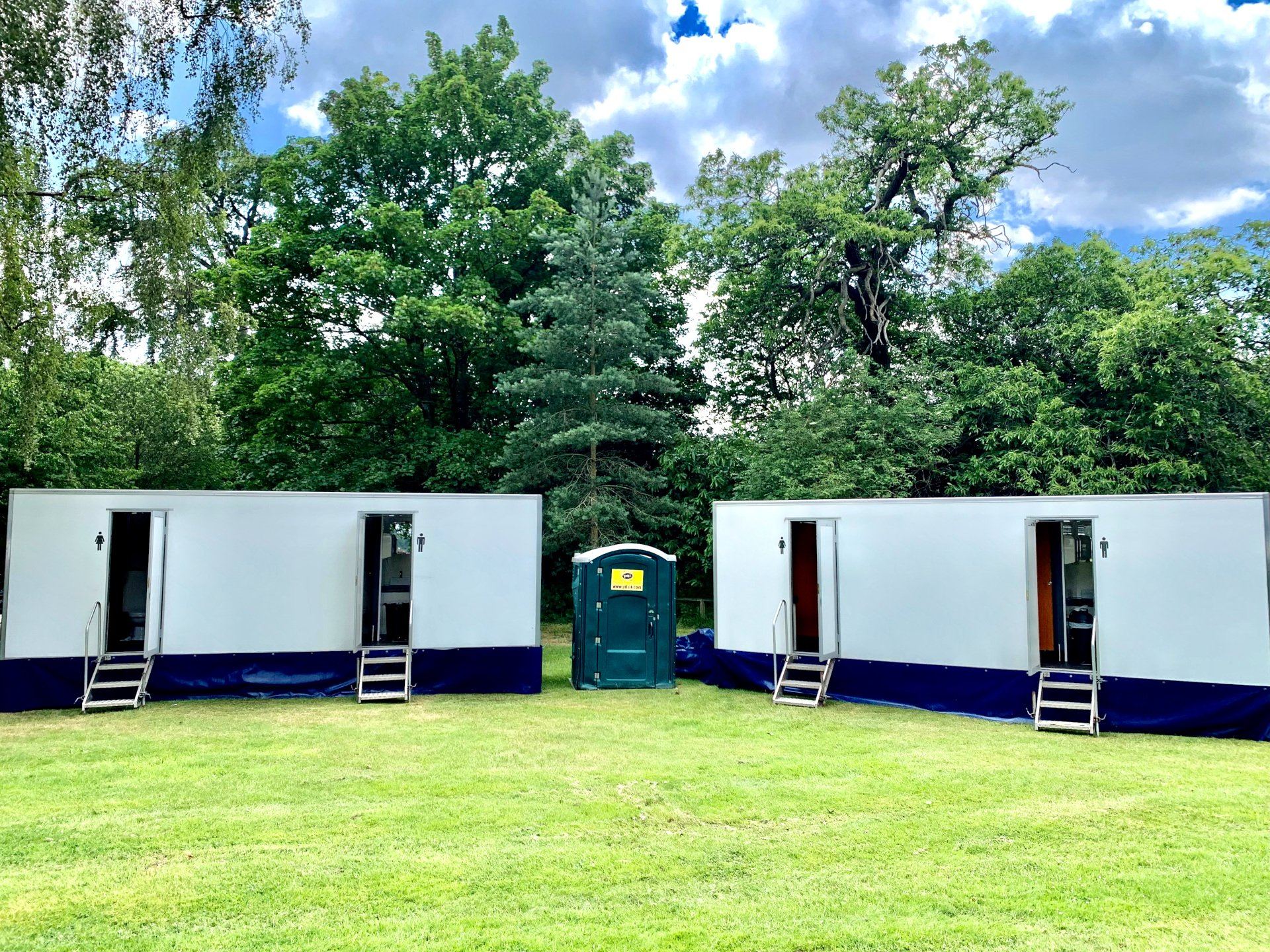 Iconic toilet hire by Guards Polo Club